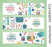 zero waste lifestyle design.... | Shutterstock .eps vector #1628391571