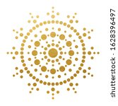 golden mandala dot art  ... | Shutterstock .eps vector #1628396497