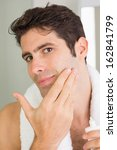 close up portrait of a handsome ...   Shutterstock . vector #162841799