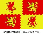 coat of arms of carmarthenshire ... | Shutterstock .eps vector #1628425741