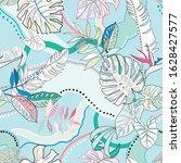 vector seamless graphical... | Shutterstock .eps vector #1628427577