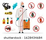 insectologist disinfector and... | Shutterstock .eps vector #1628434684