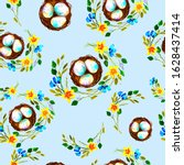 Seamless Pattern With Eggs And...