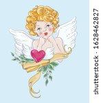 Cute Golden Hair Baby Angel...