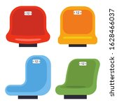 stadium seats vector cartoon... | Shutterstock .eps vector #1628466037
