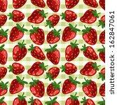 seamless vector strawberry... | Shutterstock .eps vector #162847061