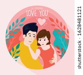 valentines day greeting with... | Shutterstock .eps vector #1628481121