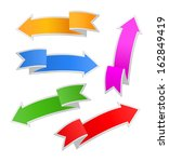 set of paper colorful arrows ... | Shutterstock . vector #162849419