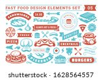 fast food and street signs and...   Shutterstock .eps vector #1628564557