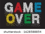 game over typography for print... | Shutterstock .eps vector #1628588854