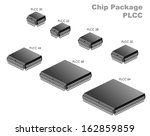 chip package  plcc  | Shutterstock .eps vector #162859859