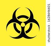 biohazard symbol on yellow ... | Shutterstock .eps vector #1628646601