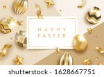 easter holiday background with... | Shutterstock .eps vector #1628667751