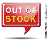 out of stock icon or sign... | Shutterstock . vector #162868817