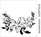 decorative floral element | Shutterstock .eps vector #162870131