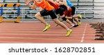 Start Sprint Men Runners Run...