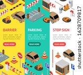parking elements concept banner ... | Shutterstock .eps vector #1628709817