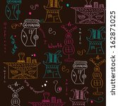 seamless pattern with  surreal... | Shutterstock .eps vector #162871025