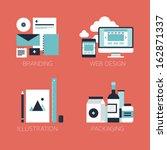 flat design modern vector... | Shutterstock .eps vector #162871337