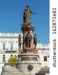 monument to odessa founders and ... | Shutterstock . vector #162872681