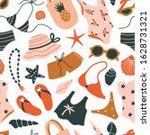 summer seamless pattern. hand...   Shutterstock .eps vector #1628731321