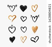 hearts isolated on a white... | Shutterstock .eps vector #1628804821