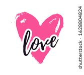 love illustration with heart... | Shutterstock .eps vector #1628804824