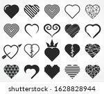 elegant design decorative heart ...   Shutterstock .eps vector #1628828944