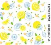 tropical fruit pattern.cute... | Shutterstock .eps vector #1628836351