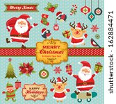 christmas characters  labels ... | Shutterstock .eps vector #162884471