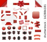 set of clean red vector blank... | Shutterstock .eps vector #162886181
