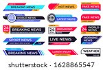 breaking news banner.... | Shutterstock .eps vector #1628865547