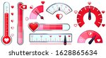 love meter. valentines day card ... | Shutterstock .eps vector #1628865634