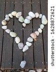a heart builded of pebbles of the Baltic Sea`s stony beach, the stony heart