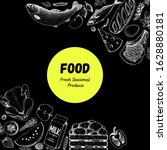 food frame sketch. vector...   Shutterstock .eps vector #1628880181
