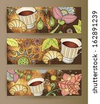 coffee banners | Shutterstock .eps vector #162891239