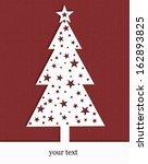border christmas tree | Shutterstock . vector #162893825