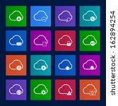 metro style cloud computing... | Shutterstock .eps vector #162894254