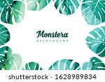 watercolor background with... | Shutterstock .eps vector #1628989834