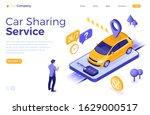 car sharing service concept....   Shutterstock .eps vector #1629000517