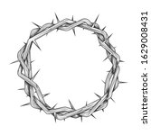crown of thorns tattoo. easter... | Shutterstock .eps vector #1629008431