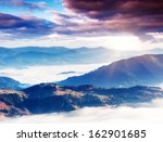 fantastic morning mountain... | Shutterstock . vector #162901685