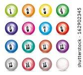 vector set of billiard balls | Shutterstock .eps vector #162902345