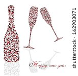 celebratory champagne with... | Shutterstock .eps vector #162903071