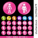 family bubble buttons 2. | Shutterstock .eps vector #162906479