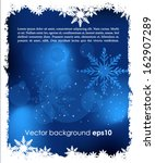 abstract christmas background  | Shutterstock .eps vector #162907289