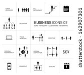 vector abstrac business icons... | Shutterstock .eps vector #162907301
