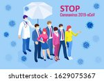 china battles coronavirus... | Shutterstock .eps vector #1629075367