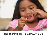 A Cute Little Girl Having Fun...