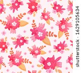 seamless pattern with pink... | Shutterstock .eps vector #1629105634